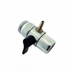 Дивертор металлический с переходником, 8 мм